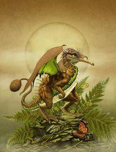 Kiwi Dragon Digital Art by Stanley Morrison