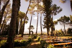An enchanted wood for a magic wedding ceremony.. #weddingceremony #weddinginitaly #openairceremony
