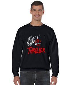 Michael Jackson Thriller Crewneck Sweatshirt by SamSamDesigns