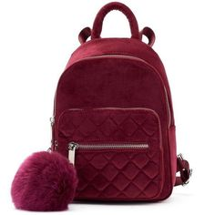 Fashion Bags, Fashion Backpack, Cute Mini Backpacks, Mini Backpack Purse, Velvet Quilt, Zara, Purple Bags, Mini Handbags, Girls Bags