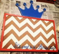 Look at this chevron corkboard that one of our Gamma Iota Chapter sisters made.