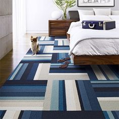 The perfect carpet for the boys room - carpet squares