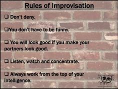 """Educational Theatre Drama Class Poster """"Rules of Improv"""" Theater Acting Lessons, Acting Class, Acting Tips, Acting Career, Drama Teacher, Drama Class, Musical Theatre Auditions, Acting Exercises, Middle School Drama"""