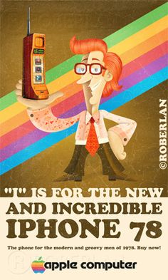 #graphicdesign ~ Vintage iPhone #advertisement