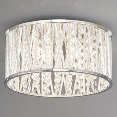 Buy John Lewis Emilia Crystal Drum Flush Ceiling Light from our Ceiling Lighting range at John Lewis. Drum Ceiling Lights, Low Ceiling Lighting, Lounge Lighting, Crystal Ceiling Light, Hall Lighting, Ceiling Chandelier, Ceiling Light Fixtures, Light Fittings, Lamp Light