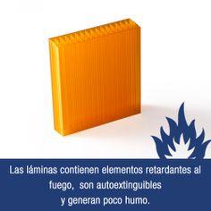 Construya fachadas y cubiertas con una lámina autoextinguible