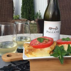 July 31, 2016 - Paglione Estate Winery 2014 Chardonnay with Fried Mozzarella Caprese Salad. http://www.essexcountywineries.ca/wines/2016/20160731.htm  Outdoor entertaining?             Your guests will love this pairing with Paglione Chardonnay & this easy, breezy caprese salad.   Perfect for a quick summer get together!   Tomatoes supplied by Lee and Marias Market
