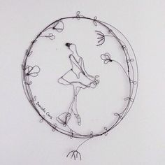 My Spring is a ballerina and wild flowers  wireart Daniela Corti Fili di poesia