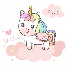 Vivid8 | Freepik Happy Unicorn, Cute Unicorn, Cartoon Baby Animals, Unicornios Wallpaper, Arte Do Kawaii, Unicorn Illustration, Unicorn Drawing, Unicorn Pictures, Cute Kawaii Drawings