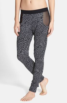 Free shipping and returns on BLUE LIFE Mesh Inset Cheetah Print Sweatpants at Nordstrom.com. Lean and comfortable cheetah-printed sweats take an unexpectedly alluring turn with sheer fishnet insets that expose the hips.