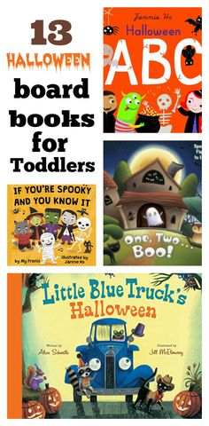 13 Halloween Board Books for Toddlers. Perfect for this time of year.