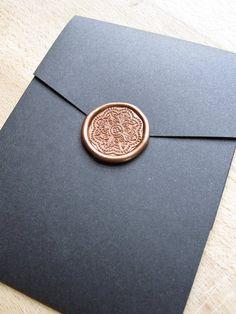 Elegant wax seal | Wedding invitation by http://justinkonpaper.com