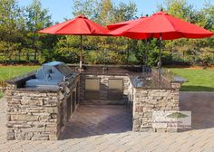 Covered Outdoor Kitchens   In the winter, when you want to use the grill, all you have