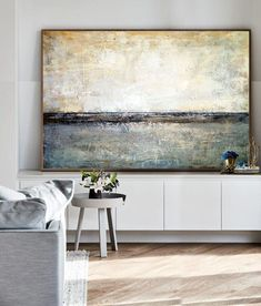 Large Canvas Abstract Art Beige Painting Gray Painting Black Art Canvas Contemporary Art Acrylic Painting On Canvas Original Living Room Art Abstract Canvas Art, Acrylic Painting Canvas, Black And White Painting, Black Art, Paint Prices, Large Canvas, Living Room Art, Your Paintings, Contemporary Art