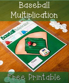 We made a baseball multiplication game. We use the ten-sided die and baseball equations to practice solidifying our multiplication facts.