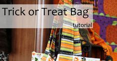 Fabric Mill: Trick or Treat Bag Tutorial Sewing Projects For Kids, Crafty Projects, Sewing For Kids, Quilting Projects, Diy Halloween Trick Or Treat Bags, Halloween Bags, Halloween Ideas, Sewing Hacks, Sewing Ideas