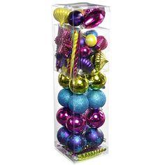 WeRChristmas 72-Piece Shatterproof Plastic Deluxe Variety Christmas Tree Baubles Decoration Pack, Pink/ Purple/ Green/ Blue, Multi-Colour WeRChristmas http://www.amazon.co.uk/dp/B00KPUK2AI/ref=cm_sw_r_pi_dp_6E9zub03S98FD