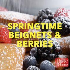 Springtime Beignets & Berries