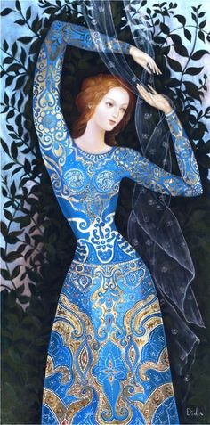 themagicfarawayttree:  Daniela Ovtcharov Illustration - blue princess