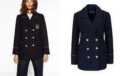 Námořnický kabát v tmavě modré skvěle doplní například váš byznys look. Na foto (zleva): Zara, 2299 Kč, Vero Moda, 2259 Kč; archiv firem