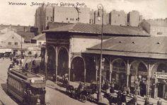 Warszawa Żelazna Brama Gościnny Dwór  Vintage postcard, Alte postkarte aus Warschau, stara pocztówka, Warszawa