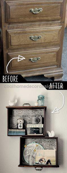 39 Clever DIY Furniture Hacks – DIY Joy DIY Furniture Hacks | DIY Drawer Shelves | Cool Ideas for Creative Do It Yourself Furniture | Cheap Home Decor Ideas for Bedroom, Bathroom, Living .. http://www.coolhomedecordesigns.us/2017/05/18/39-clever-diy-furniture-hacks-diy-joy/