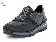 Rieker Femmes Chaussures à lacets noir, (schwarz/granit/schwa) M692000 - Chaussures rieker (*Partner-Link)