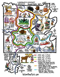 GREAT KIDS MAP....Chico Trip 2011: Info on Yellowstone and Montana Kids.