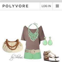 Dolman Top Paired With Mint Shorts and Accessories :) think at 40 I might need longer shorts but love this. Cute Summer Outfits, Cute Outfits, Swagg, Get Dressed, Passion For Fashion, Spring Summer Fashion, Dress To Impress, Fashion Outfits, Fasion