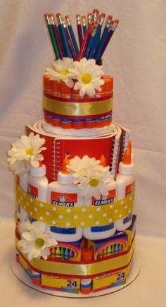 Teacher Appreciation/Student School Supply Cake Gift