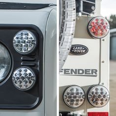 Clear Lenses with Brake Light lit - NAS style LED Lights Upgrade Kit for Land Rover Defender