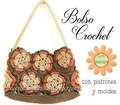 Todo crochet: Bolsa de 12 grannys para tejer al crochet / Patron...