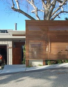 Cool way to block your house from the street for those without a green thumb or don't want to wait for trees to grow in 20 years. :)