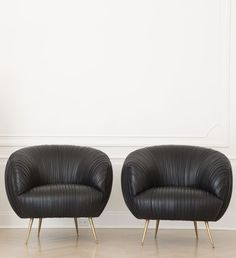 kelly wearstler. the soufflé chair. one or a pair. ruched lambskin leather. luxe. poof perfection!