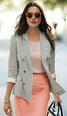 I would like a fun, business-casual jacket that looks as good and comfortable on me as this does on her.