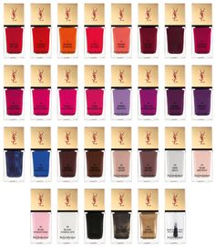 2012 YSL Nail Polish collection... it's a drama.... I'd buy'em all :( !!!