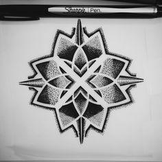 X marks the spot #blackspottattooco #sacredgeometry #dotwork #sketches #sharpie #tattoos