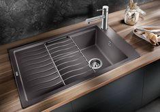 Elon XL 6 S Silgranit 524845 Blanco, Gris rocher Vidage manuel Best Kitchen Sinks, Kitchen Taps, Cool Kitchens, Over Kitchen Sink Lighting, Granite Composite Sinks, Cast Iron Sink, Sink Accessories, Bowl Sink, Kitchens
