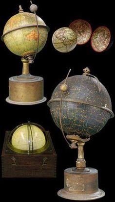 Globes terrestres - Globe céleste - Navisphère (Tête de veau)