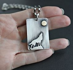 Men's Wolf Pendant Necklace, Sterling Silver Chain http://www.lynntodddesigns.com/shop/mens-wolf-pendant-necklace-sterling-silver-chain