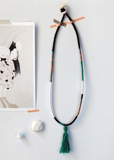 Create Your Own Gorgeous Hand-Wrapped Tassel Necklace (via craft.tutsplus.com) #Tassel #Tutorial #Necklace