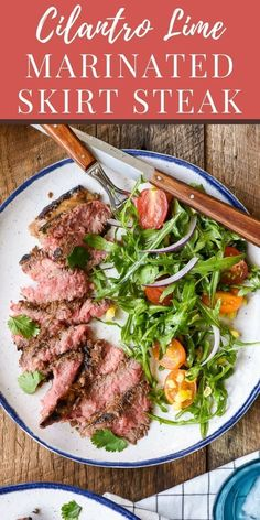 Low Unwanted Fat Cooking For Weightloss Skirt Steak Soaks Up A Flavorful Citrus Marinade For A Juicy, Tender Steak Bursting With Flavor. Present With A Simple Arugula Salad For A Great Summer Meal Skirt Steak Recipes, Steak Marinade Recipes, Beef Recipes, Carne Asada, Gordon Ramsay, Summer Recipes, Healthy Dinner Recipes, Easy Summer Meals, Easy Dinners