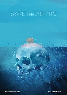 """My illustration for Greenpeace social campaign """"Save the Arctic"""". Save Planet Earth, Save Our Earth, Save The Planet, Cool Poster Designs, Cool Posters, Mundo Cruel, Environmental Posters, Save The Arctic, Save Environment"""