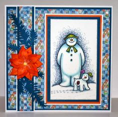 linda's rainbow crafting cabin: The Snowman & The Snowdog/ Father Christmas from #crafterscompanion coloured with @SpectrumNoir