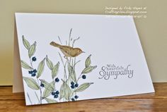 Stampin' Up ideas and supplies from Vicky at Crafting Clare's Paper Moments: Simply Sketched with sympathy