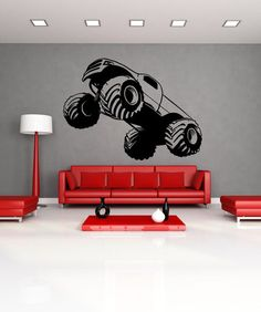 Vinyl Wall Decal Sticker Monster Truck Launch #OS_MB592 | Stickerbrand wall art decals, wall graphics and wall murals.