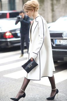 MFW Street Style Day Two: Nothing looks more chic than this kind of simple elegance.  Source: Tim Regas