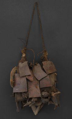 New Guinea, Medicine Bag -Mid 20th century.  Various organic materials.