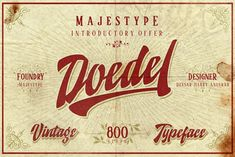 Doedel is a strong-vintage script font that comes with over 800+ glyphs and is equipped with a host of OpenType features, works well at large size and making it a breeze to customize for your design.