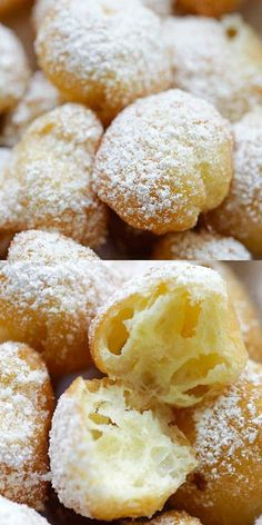 Easy Beignets – soft, puffy, pillowy and crazy delicious beignets. Sink your teeth into the best homemade beignets ever! Easy Beignets – soft, puffy, pillowy and crazy delicious beignets. Sink your teeth into the best homemade beignets ever! Donut Recipes, Gourmet Recipes, Sweet Recipes, Baking Recipes, Kitchen Recipes, Simple Recipes, Köstliche Desserts, Delicious Desserts, Dessert Recipes